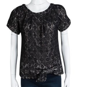 Marc by Marc Jacobs Metallic Medallion Lace Top